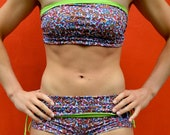 Bandeau in cashmere and green for Bikram yoga