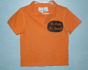 Babies Halloween embroidered T shirt