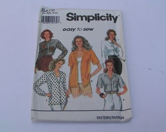 Simplicity Pattern easy to sew 8472 Misses Blouse