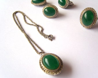Vintage - Green Jewelry Set