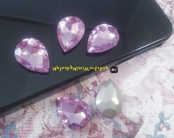 Water Droplets Violet Rhinestone 1pc - High quality 18mmx13mm