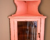 RESERVED Rustic Shabby Chic Corner Cabinet