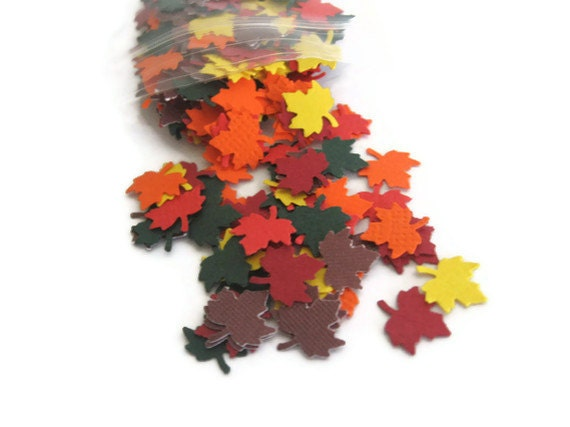 Autumn Leaves Confetti: 300 Maple Leaves in Fall Colors