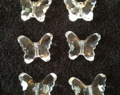 Crystal Clear Butterfly Spacers