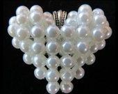 White Pearl Heart Pendant