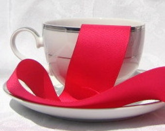 "Hot Pink Grosgrain Ribbon 1.5"" wide - 3 yards"