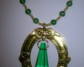 Wickedly Green Beaded Necklace