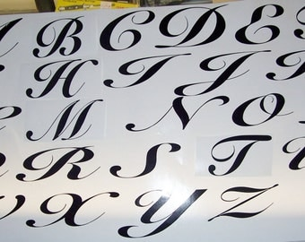 """4"""" Vinyl Letter Decals, All 26 letters or 26 of one letter"""