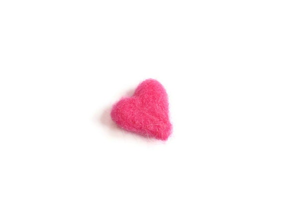 Miniature Felt Heart, Needle Felted Heart Soft Sculpture