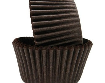 Solid Black Baking Cups, Cupcake Liners