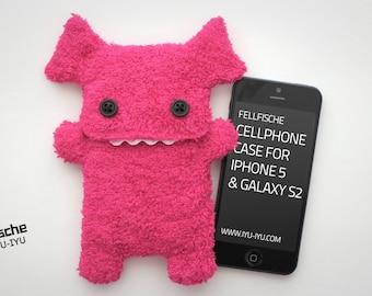Fluffy Cellphone Case for iPhone 5 & SE - Fellfische - Pink