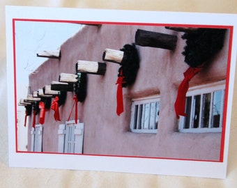 photo card, adobe, Christmas, New Mexico, Southwest, Albuquerque,