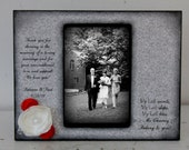 Black and Grey Parents Wedding Frame with Flowers Personalized  Gift Distressed Gift Personalized Wedding Picture Frame 4x6 Keepsake