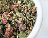Yarrow Flower, Elderberry, Red Clover & Mullein Leaf Herbal Tea. COLD EASE caffeine-free loose leaf blend  1 oz.