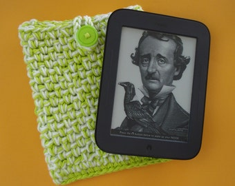 Nook Simple Touch cover or Kindle cover - Case Sleeve Jacket Bag - Handmade Crochet