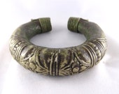 Reserved PRICED TO SELL Authentic Antique Collectible Primitive Hollow Cast Bronze Bangle Ethnic Village India  --- Toronto Shipping