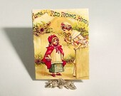 Miniature Dollhouse Book RED RIDING HOOD - Raphael Tuck, Frances Brundage - Childs Fairy Tale Story Book One Inch Scale Dollhouse Accessory