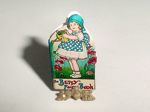 Miniature Shape The BETTY FAIRY Book - Margaret Evans Price - 1915 - Dollhouse One Inch Scale