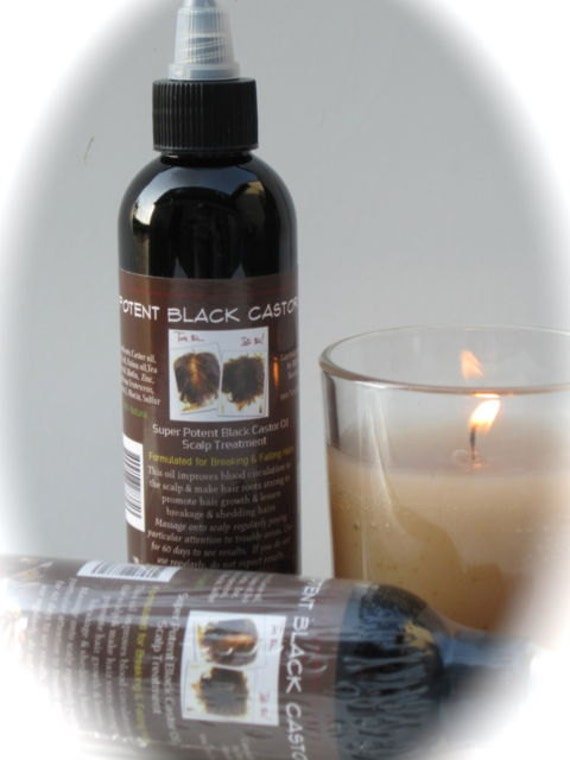 SUPER POTENT Jamaican Black Castor Oil.