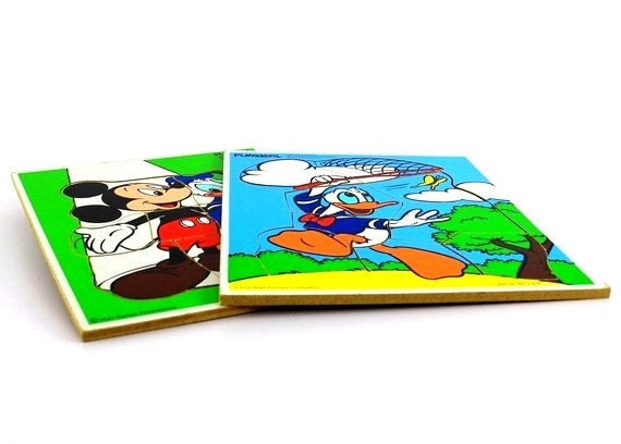 Playskool Disney Tray Puzzles - Mickey Mouse and Donald Duck