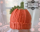 Pumpkin Patch Crochet Hat for Toddlers