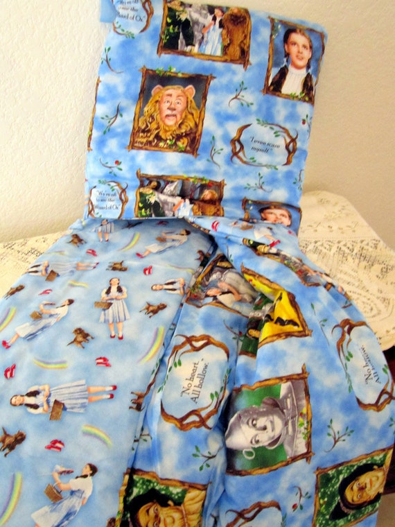 Wizard of Oz Baby Quillow / Blanket / Quilt / Red / Blue