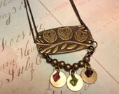 Initialed Owl Family Necklace