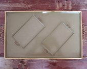 Vintage Serving Tray, Art Deco Moire Glaze Cocktail Tray