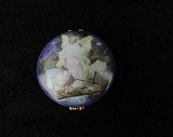 Trinket Box: Hand Decorated Wild Garden Rose Porcelain