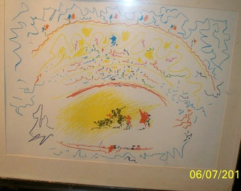 Picasso/ lithographic print size 13x16 appraised by Sara Kinch on 7/18/12