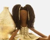 CLEARANCE!!! Rag Doll, Ethnic, Marikka Biyana Original, Handmade, Tall, Repurposed Cotton Dress