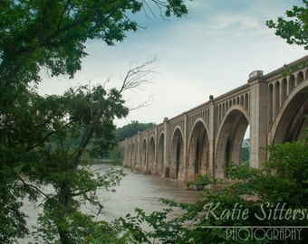 SALE Richmond Va James River Railway Bridge, Train Photo Virginia Landscape Photo Art, Framed Photography Option