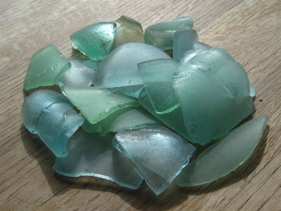 Bulk Sea Glass Seafoam, Aqua Genuine Seaglass Supplies  - 9-7