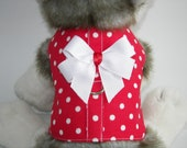 Red with White Dots - Dog Harness