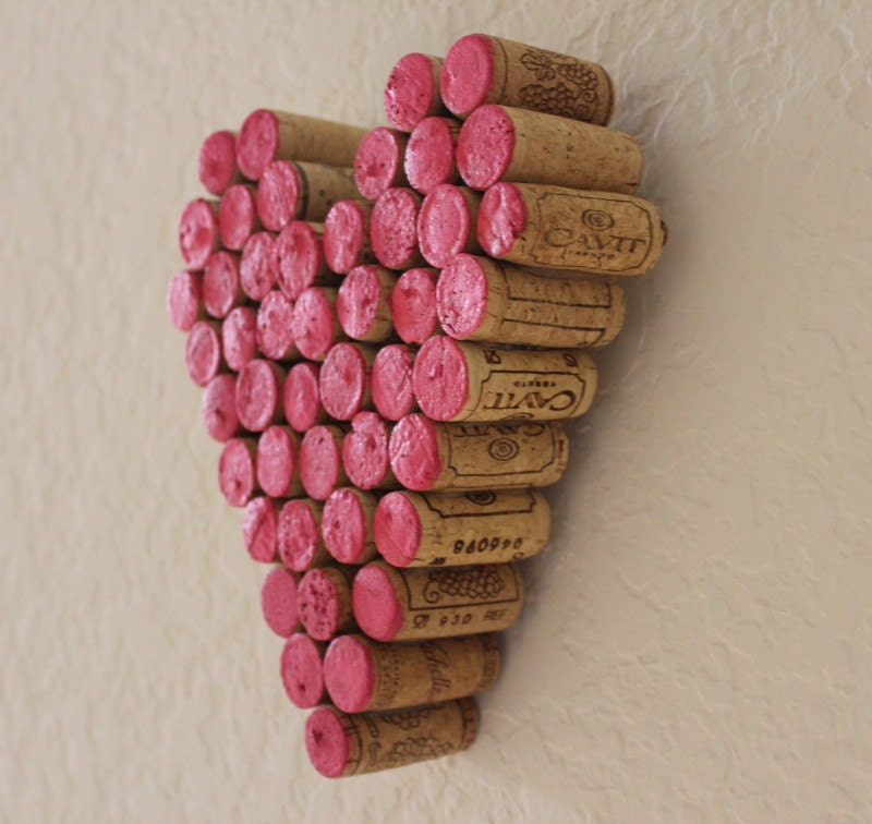 Wine Cork Heart Wall Decor Hanging Gift Hot by