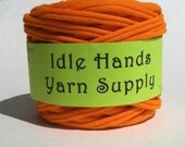 Orange Tarn Recycled T Shirt Yarn - 35.25 Yards 4 WPI