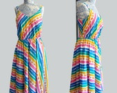 1970s Rainbow Dress by Dash About