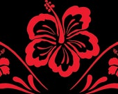 Cool hibiscus decal