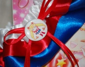 Custom Sailor Moon Sailor Scout Bridal Garter Great for Weddings or Conventions