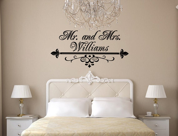 Items Similar To Mr And Mrs Wall Art Vinyl Black Decal