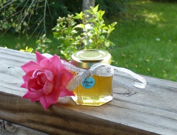 Golden Honey Wedding Favors 100 Raw Wildflower Honey 2oz Jars Raw Honey Silver Charms Rustic Tennessee Wedding Reception