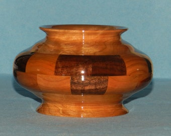 Black Walnut & Cherry Segmented Bowl No. 153