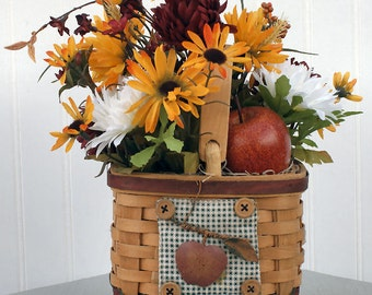 Fall, Autumn, Harvest, Centerpiece, Apple, Basket, Floral, Home Decor