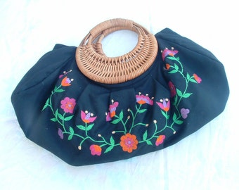 embroidered bag made in Hungary never ware circa 1960's