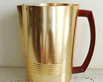 Vintage aluminum pitcher with Bakelite handle, Enterprise, circa 1950