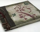 Birds in the Wetlands Journal, Stab Bound Rustic Handmade Journal, Diary, Notebook, Sketchbook, Guestbook with Raised Textured Design