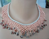 Hand-Knitted Lace Collar Necklace  - free shipping