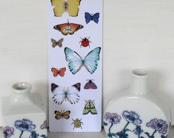 Butterfly Bookmark Pretty Gift featuring Colourful Insect Illustrations