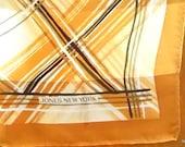 SALE Maple Plaid Designer Silk Scarf
