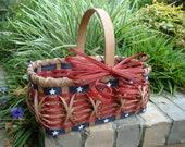 6X10 Americana Flag Basket Handwoven